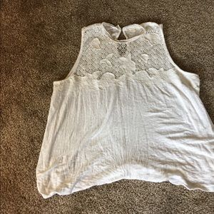 Lucky Brand tank with lace detail 3x